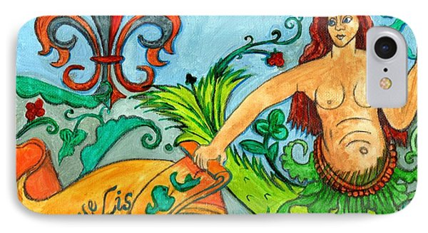 Fleur De Lis Mermaid Phone Case by Genevieve Esson