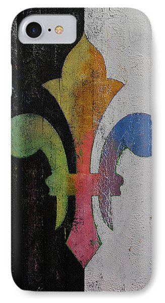 Fleur De Lis IPhone Case by Michael Creese