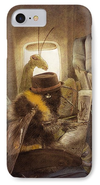 Flight Of The Bumblebee IPhone Case by Eric Fan