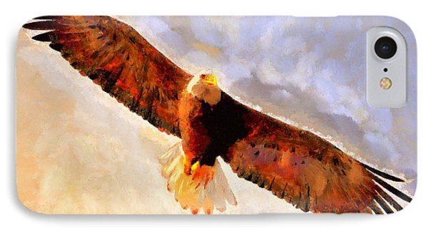 IPhone Case featuring the painting Flight Of The Eagle by Wayne Pascall
