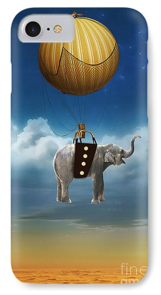 Flight Of The Elephant IPhone Case by Marvin Blaine