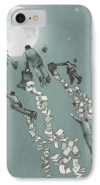 Flight Of The Salary Men IPhone Case by Eric Fan