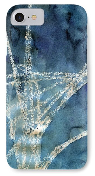 Flight Path- Abstract Painting IPhone Case by Linda Woods