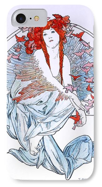 Oh To Fly   After Mucha IPhone Case