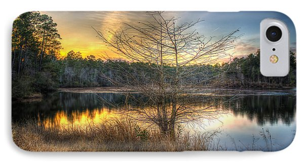 IPhone Case featuring the photograph Flint Creek Sundown by Maddalena McDonald