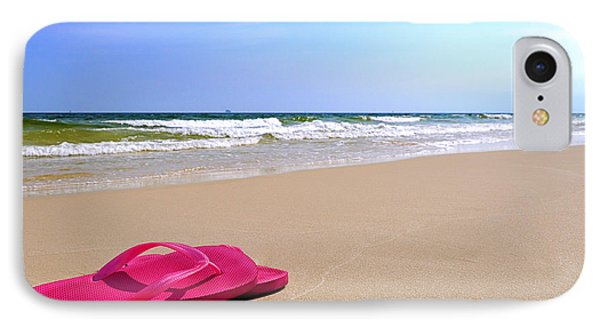 Flip Flops On Beach IPhone Case