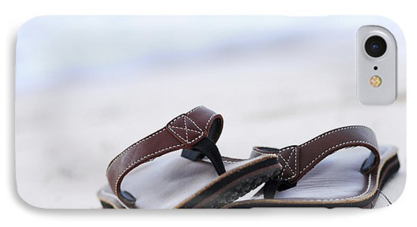 Flip-flops On Beach IPhone Case