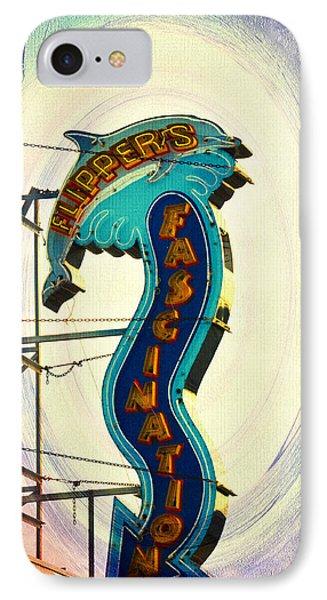 Flippers Facination - Wildwood Boardwalk Phone Case by Bill Cannon