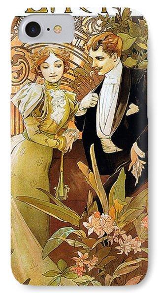 Flirt IPhone Case by Alphonse Mucha