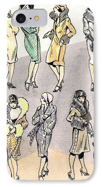 Flirty Flappers Phone Case by Mel Thompson
