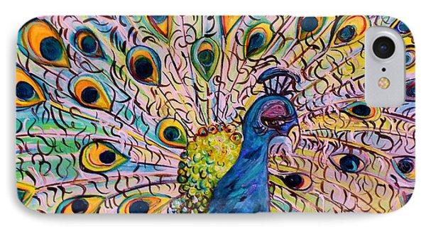 Flirty Peacock Phone Case by Eloise Schneider