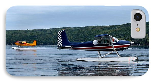 Float Planes On Keuka IPhone Case by Joshua House