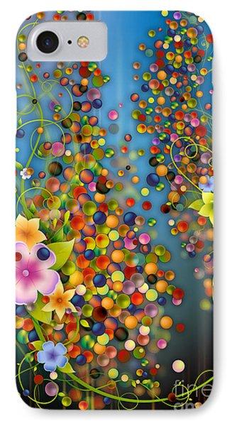 Floating Fragrances - Blue Version IPhone Case by Bedros Awak