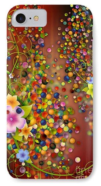 Floating Fragrances - Red Version Phone Case by Bedros Awak