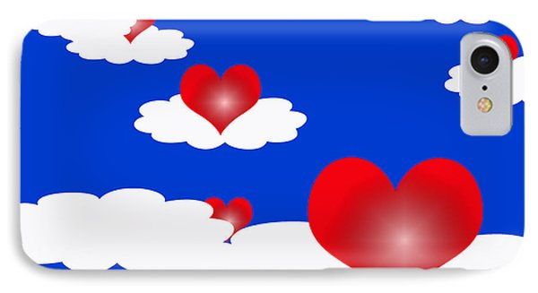 Floating Hearts IPhone Case by Rachel Lowry