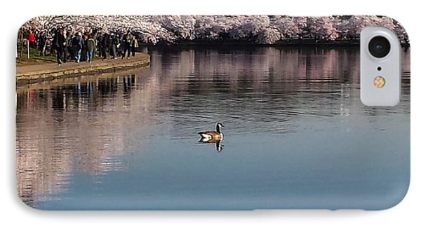 Floating In The Tidal Basin IPhone Case by Debra Bowers