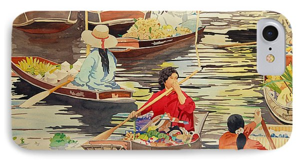 Floating Market IPhone Case by Terry Holliday