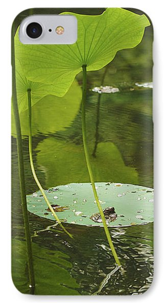 IPhone Case featuring the photograph Floating World #2 - Lotus Leaves Art Print by Jane Eleanor Nicholas
