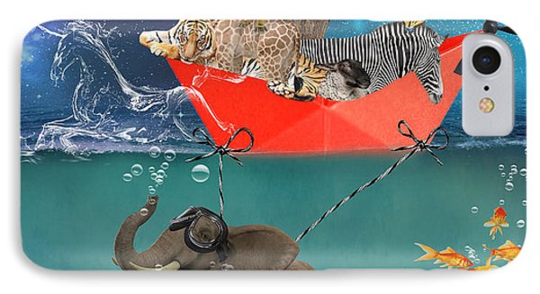 Floating Zoo IPhone Case by Juli Scalzi