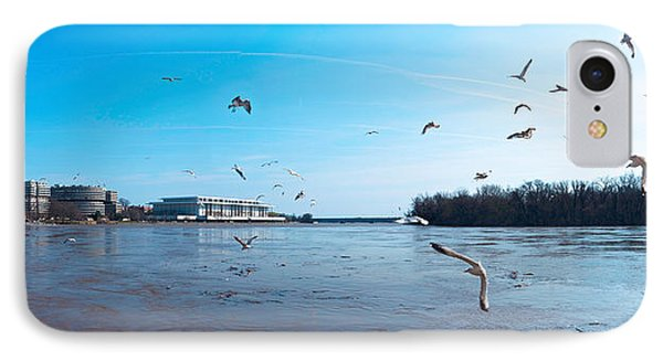 Flock Of Birds Flying At Old Georgetown IPhone Case