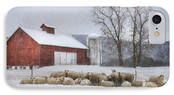 Flock Of Sheep IPhone Case by Lori Deiter