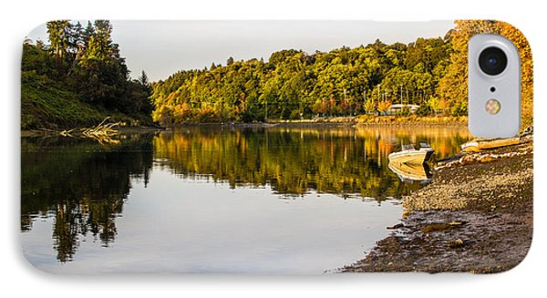 Flock Over Steilacoom Lagoon IPhone Case by Rob Green