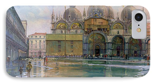 Flood Tide, Venice, 1992 Oil On Canvas IPhone Case by Bob Brown