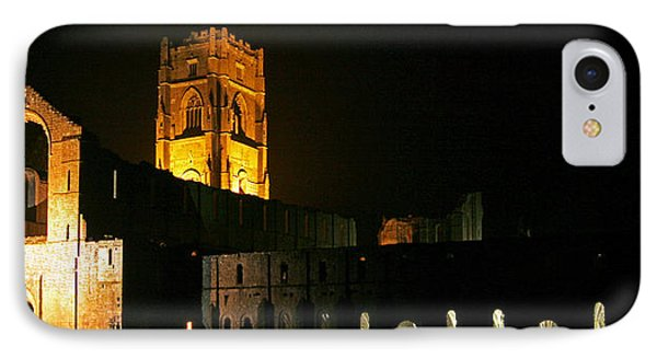 Floodlit Fountains Abbey IPhone Case by John Topman
