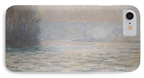Floods On The Seine Near Bennecourt IPhone Case by Claude Monet