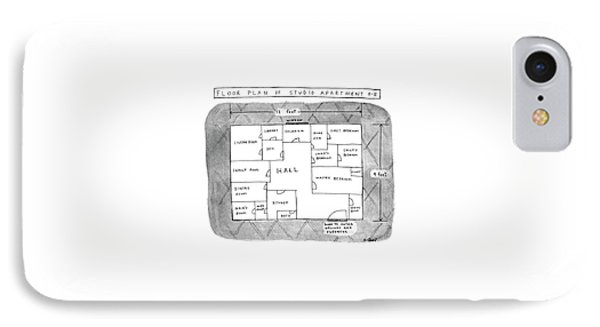 Floor Plan Of Studio Apartment R-b IPhone Case