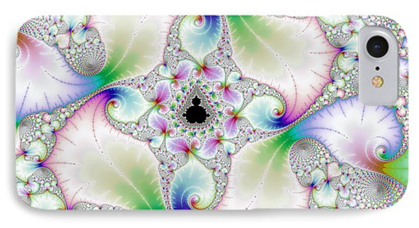 Floral Abstract Art With Bright Pastel Colors IPhone Case by Matthias Hauser