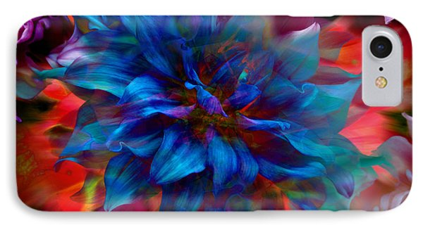 Floral Abstract Color Explosion IPhone Case by Stuart Turnbull