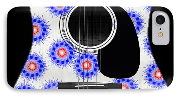 Floral Abstract Guitar 23 IPhone Case by Andee Design