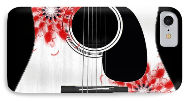 Floral Abstract Guitar 33 IPhone Case by Andee Design
