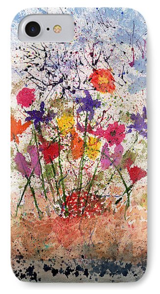 Floral Abstract IPhone Case by Zilpa Van der Gragt