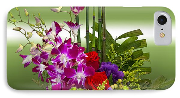 Floral Arrangement - Green Phone Case by Chuck Staley