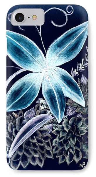 Floral Art 14-3 IPhone Case by Maria Urso
