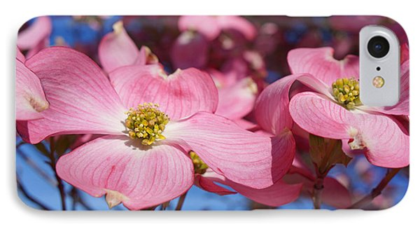 Floral Art Print Pink Dogwood Tree Flowers Phone Case by Baslee Troutman