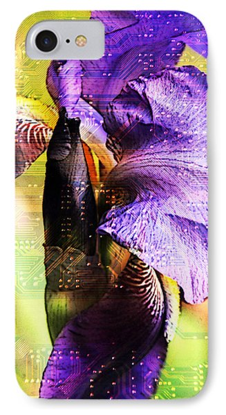 Floral Circuit IPhone Case