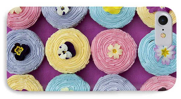Floral Cupcakes IPhone Case by Tim Gainey