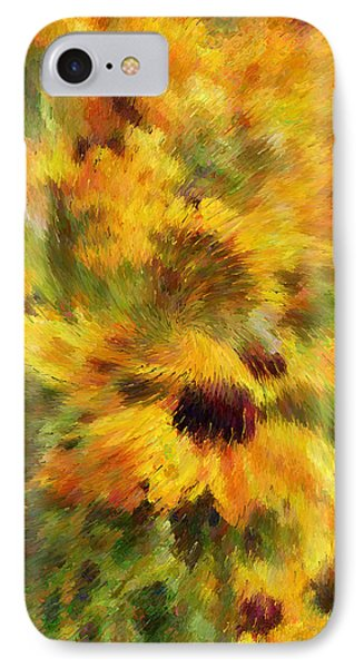 Floral Explosion Abstract IPhone Case by Georgiana Romanovna