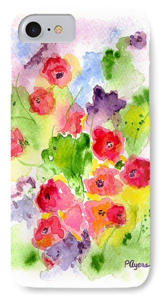 IPhone Case featuring the painting Floral Fantasy by Paula Ayers