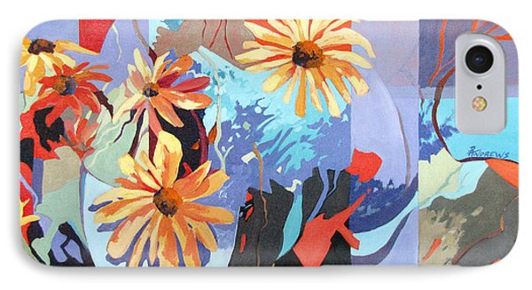 IPhone Case featuring the painting Floral Fragments by Rae Andrews