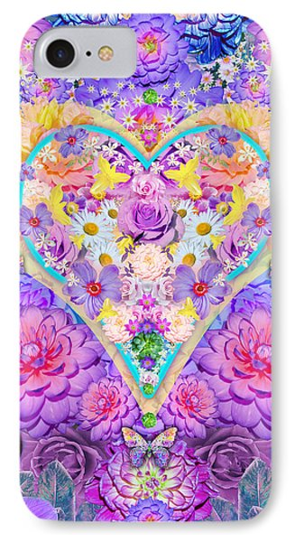Floral Heart Springtime IPhone Case by Alixandra Mullins