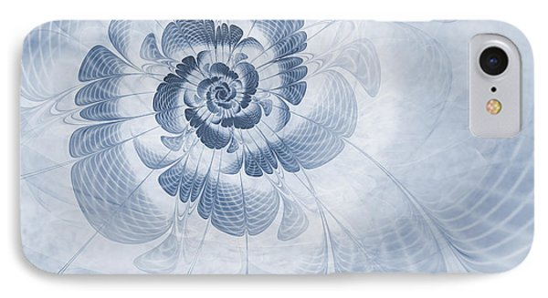 Floral Impression Cyanotype IPhone Case by John Edwards