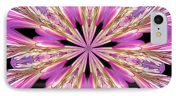 Floral Kaleidoscope  Waterlily IPhone Case by Rose Santuci-Sofranko