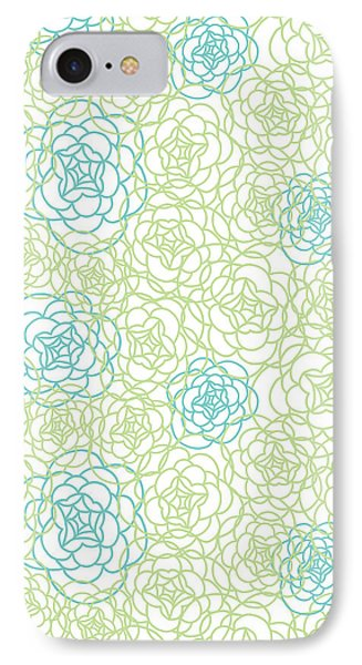 Floral Lines IPhone Case by Susan Claire