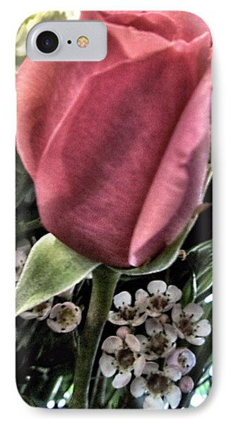 Floral Mix One Red Rose Phone Case by Danielle  Parent