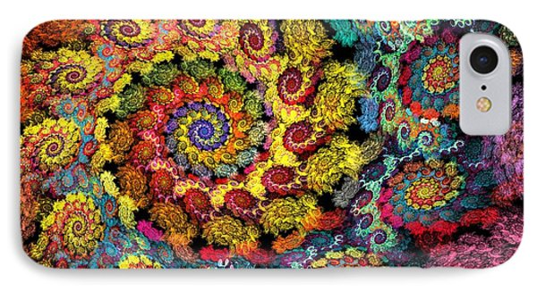 Floral Spiral IPhone Case by Peggi Wolfe