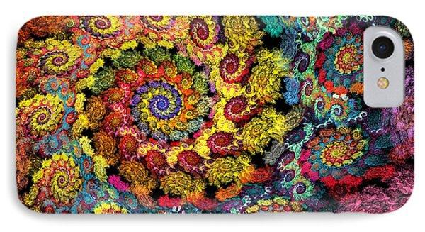 Floral Spiral IPhone Case
